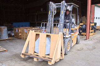 Packing up Vermont Soapstone to ship