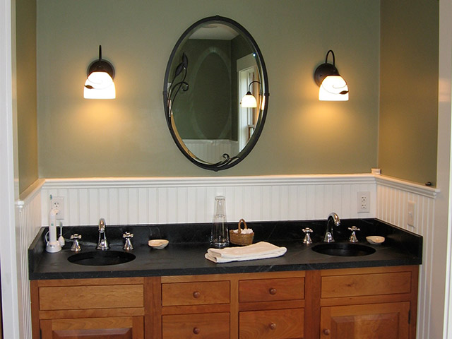 Vermont Soapstone adds a luxurious touch to any bathroom