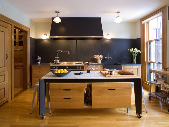 Vermont Soapstone makes stunning custom kitchen countertops and apron front sinks.