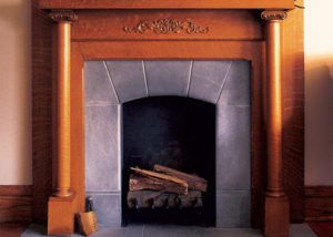 Vermont Soapstone tile fireplace and hearth
