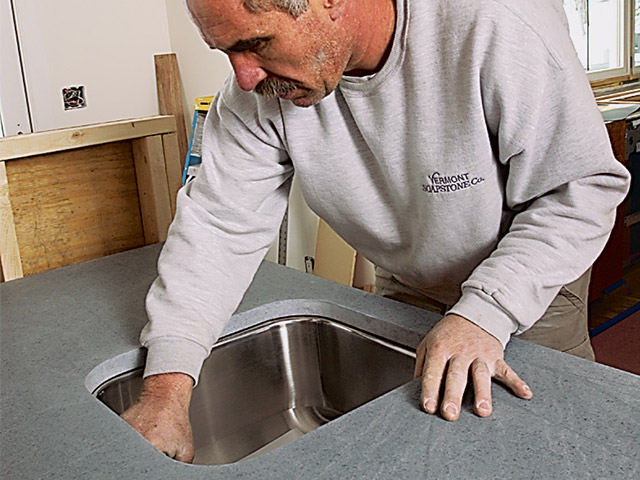 Vermont Soapstone installation experts will make sure your new kitchen counter is a perfect fit.