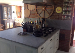 Vermont Soapstone makes a gorgeous cooking and prep surface.