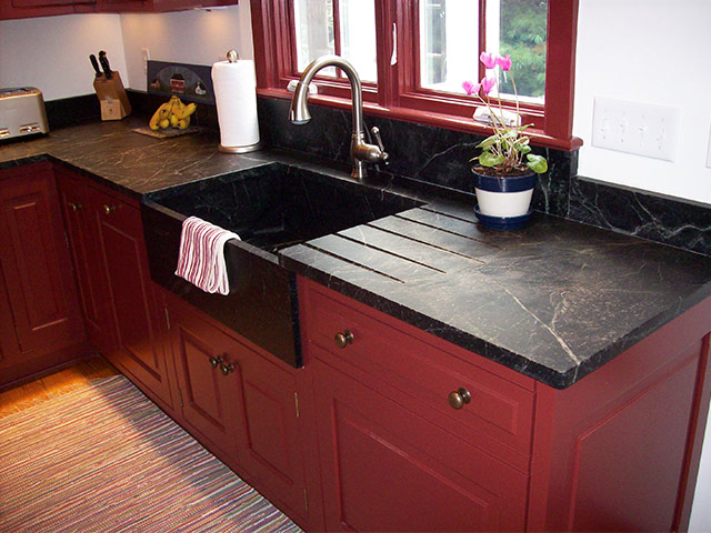 kitchen cost molding counters crown sink black traditional apron with soapstone countertop countertops