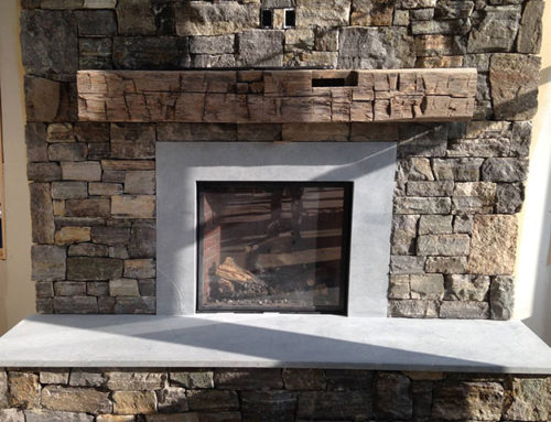 Soapstone Fireplace Insert and Hearth